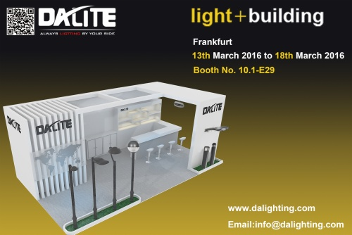 DALITE attends Light + Building (Mar 2016), Frankfurt Germany